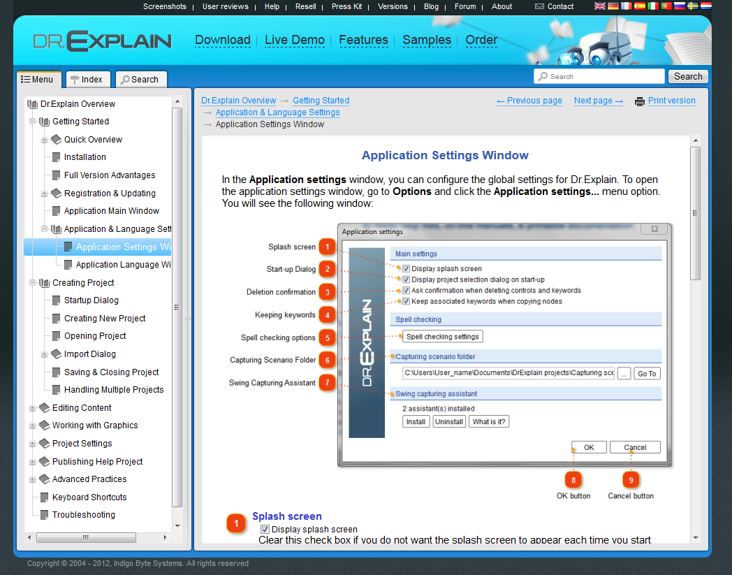 Create online help manual with Dr.Explain: easily, quickly ...