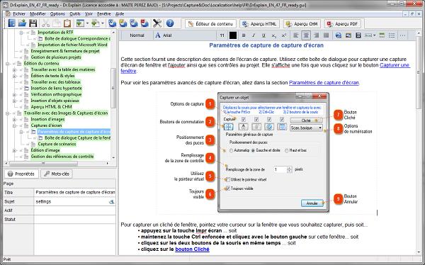 Dr.Explain est un logiciel pour créer des fichiers d'aide