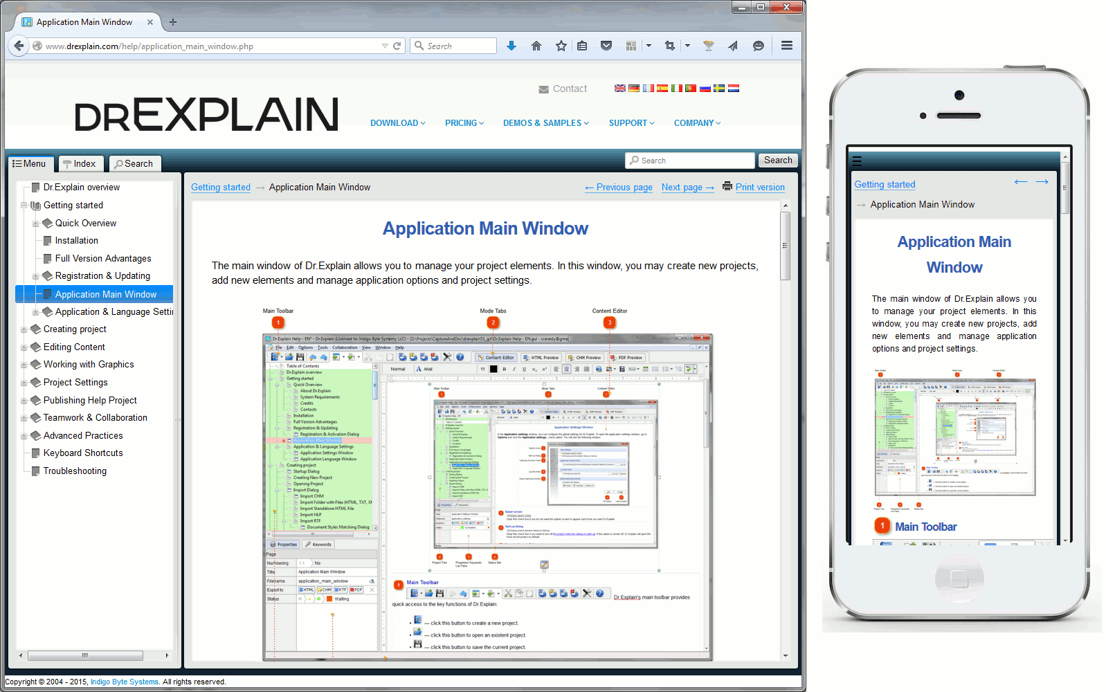 Dr Explain: A professional tool for creating mobile-friendly