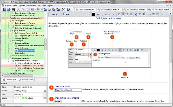 O Dr.Explain é um software quem como propósito criar ficheiros de ajuda, manuais online e toda a documentação necessária para aplicações de software.